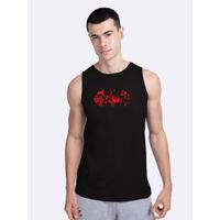 Bewakoof Batman Comic Grunge Round Neck Vest (BML) - Black