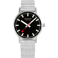 Mondaine Classic Hours Analog Dial Color Black Men's Watch- A660.30360.16SBW