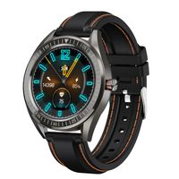 AQFIT W14 Fitness Smartwatch  Full Touch Screen Display (Black Orange)
