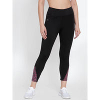 Cukoo Black & Pink Activewear/Yoga/Gym/Sports Track Pants with Zipped Pocket