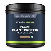 Nutrabay Wellness Vegan Plant Protein Powder + Superfoods - Rich Chocolate
