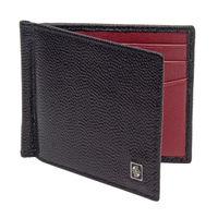 Carlton London Accessories RFID Mens Leather Money Clip Black