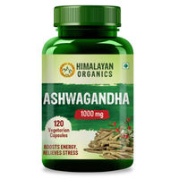 Himalayan Organics Ashwagandha 1000mg Capsules (Stress reliever & energy booster)