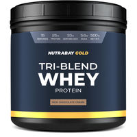 Nutrabay Gold Tri-blend Whey Protein - Rich Chocolate Creme