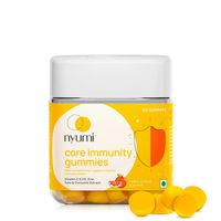 Nyumi Core Immunity Gummies with Vit C, D3, Curcumin, Zinc, Tulsi
