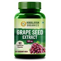 Himalayan Organics Grape Seed Extract 500mg/serving For Healthy Cholesterol Level