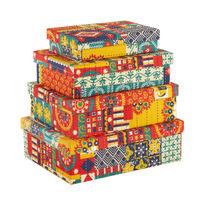Chumbak Floral Swirls Storage Box Combo Set
