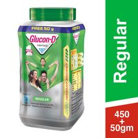 Glucon D Instant Energy Health Drink Regular - Jar (extra 50gm Free)