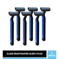 ZLADE Glide II Plus Readyshaver- Twin Blade Disposable Shaving Razor For Men - Pack Of 6