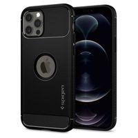 Spigen Rugged Armor Designed For Iphone 12 / 12 Pro Case Cover (2020) - Black