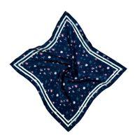 HILO Design Tiny Floral Pattern Silk Pocket Square