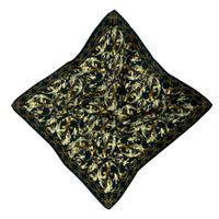 HILO Design Baroque Pattern Silk Pocket Square