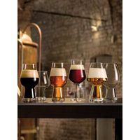 Luigi Bormioli Birrateque Craft Stout Beer Glass Set, Set Of 2