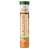 Himalayan Organics D3, Calcium, Magnesium Immunity Booster, Anti-oxidant Supplement - Lime Flavor