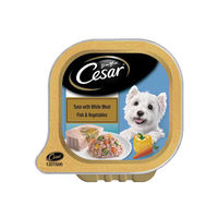 Cesar Adult Wet Dog Food, Tuna With White Meat Fish & Vegetables Tray