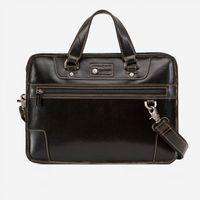 "Jekyll & Hide 3684oxbl Oxford 15"" Medium Laptop Briefcase - Black"
