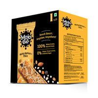 Mojo Bar Healthy Snack - Nutty Apricot + Fibre - Pack Of 15