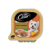 Cesar Adult Wet Dog Food, Lamb & Vegetables Tray