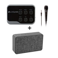 UltraProLink Um1002 Sing Along Universal Karaoke Mic & Bluetooth Receiver With Echo Free Speaker 5W