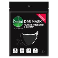 Dettol Reusable & Washable D95 Mask Protection Germs & Pollution-Large