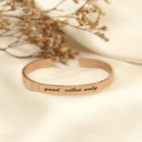Joker & Witch Good Vibes Only Rose Gold Mantra Band