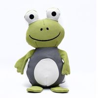 Heads Up For Tails In the Jungle Frog Prince Dog Toy Made from Recycled Cotton