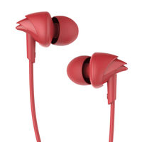 boAt BassHeads 100 N Earphones with Enhanced Bass, Hawk-Inspired Design & Mic (Furious Red)