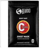 Beardo Vitamin C Brightening Sheet Masks For Instant Glow - 2 Mask For Bearded Men