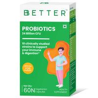BBETTER Probiotics 24 Billion Cfu - Veg Capsules
