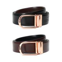 Louis Philippe Brown Reversible Belt (lpbldrgff00112)