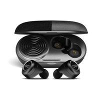 Crossloop GEN TWS Bluetooth Earbuds with 3W Speaker Case (Black Leather)