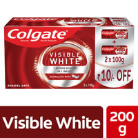 Colgate Visible White Toothpaste Pack of 2 (Rs.10/- OFF)