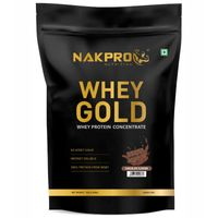 NAKPRO Gold 100% Whey Protein Concentrate Supplement Powder - Chocolate Flavour