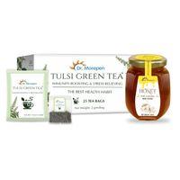Dr. Morepen Natural & Pure Honey + Tulsi Green Tea Bags Immunity Booster Kit
