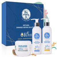 The Moms Co. Natural KA+ Intense Hair Repair Kit (Shampoo + Conditioner + Hair Mask)