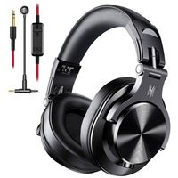 OneOdio A71 Black Over Ear Headset with Mic Black
