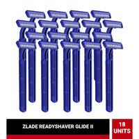 ZLADE Glide Ii Readyshaver, Twin Blade Disposable Shaving Razor For Men - Pack of 18