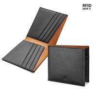 Pennline Rfid Safe Ultra Slim Twotone Bifold Leather Wallet