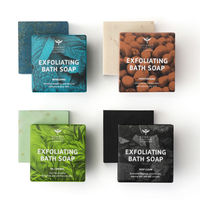 Bombay Shaving Company Exfoliating Bath Soaps 4x1 Set