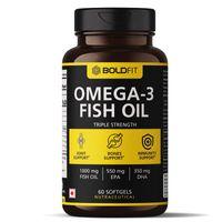 Boldfit Omega-3 Fish Oil Triple Strength Capsules