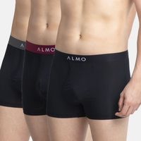 ALMO Men's Micromodal Trunk With Contrast Waistband, Pack Of 3 - Multi-Color