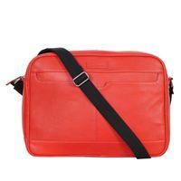 Justanned Men'S Red Messenger Bag