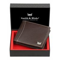 Smith & Blake Mens Wallet Genuine Leather Brown |Boon