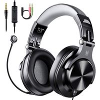 OneOdio A71D Black Over Ear Headset with Mic Black