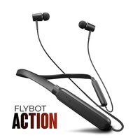 Flybot Action Bluetooth Neckband with Magnetic Earbuds, Ipx4 Water Resistant with Built-In Mic