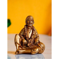 eCraftIndia Sitting Sai Baba Decorative Handcrafted Brass Figurine