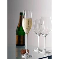 Dartington Crystal Glitz Flute Glass (set Of 2)