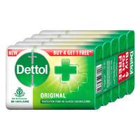 Dettol Original Germ Protection Bathing Soap Bar Buy 4 Get 1