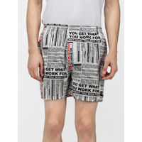 Whats Down Motivational Quotes Boxers - White