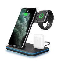 UNIGEN AUDIO Unidock 3-in-1 15w Qi Certified Fast Wireless Charging Station-iwatch/airpods/iphone